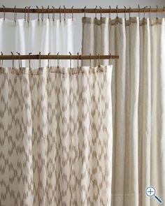 Eileen Fisher Sheer Linen Shower Curtain