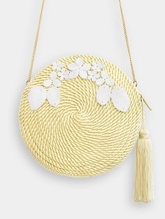 Handbag Audrey · Pale Yellow via Olvido Madrid ~ Lovingly Handmade. Click on the image to see more!
