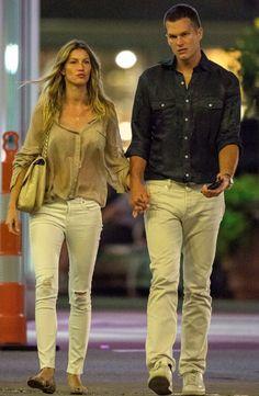 Após afastar boatos de separação, Gisele Bündchen e Tom Brady vão ao cinema