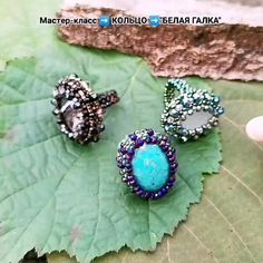 #ring # rivoli # beading # beading #handmade #broochhandmade #mastttera #handmade_en_jewellery Ring Video, Beaded Jewellery, How To Make Diy, Handmade Beads, Diy Jewelry Making, Jewelry Patterns, Master Class, Beaded Embroidery, Druzy Ring