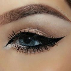 """Mariya Lyubashevskaya on Instagram: """"Close up of the Arabic inspired... ❤ liked on Polyvore featuring beauty products, makeup, eye makeup and eyeliner"""
