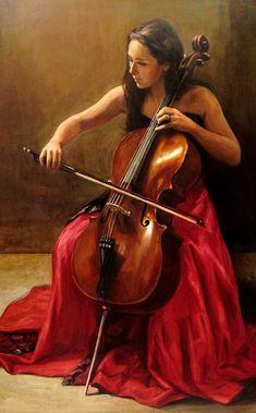 Portrait of Seeli Toivio, Finnish classical virtuoso cellist ☛ http://www.seelitoivio.com/ • artist: Dmitri Zudov