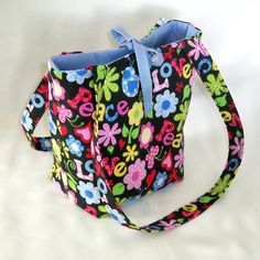 Floral+Hippie+Purse+Tote+Bag+Love+Peace+Fabric+by+ColleensDesigns,+$25.00