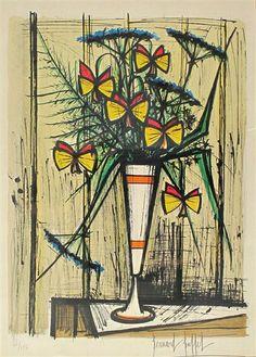 Bernard Buffet, Les Fleurs Papillons 1970