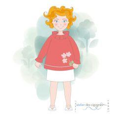 Patron couture Enfant | Blouse ou Chemise de nuit à col pierrot | Atelier des cigognes