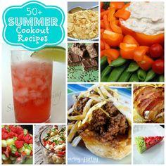 50+ Summer Cookout Recipes via createcraftlove.com #summer #cookout #recipes