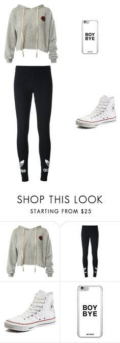 """""""IDK what a boy thinks"""" by brashearannle ❤ liked on Polyvore featuring Sans Souci, adidas Originals and Converse"""