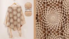 Crochet Shawl, Crochet Yarn, Peacock Crochet, Crochet Bracelet, Diy Tutorial, Baby Knitting, Scarf Wrap, Crochet Projects, Crochet Patterns