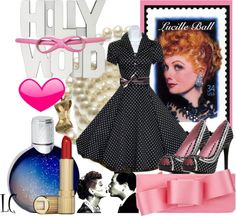 """i love lucy theme parties   Love Lucy I Really Do"""" by lindacaricofe on Polyvore. love!!!"""