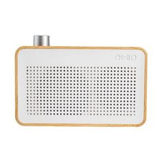 Share the music! Whether heading to the beach or just relaxing at home, this portable speaker will play all your favorite oldies but goodies music for up to six hours. <br>  <ul>  <li>With the look of a vintage radio, the Bluetooth speaker showcases a simple wood and white panel design with one large silver button for simplified operation.</li>  <li>Pocket-sized and easy to transport, it comes with a 520mAh battery and USB charging port.</li>  <li>Turn it on, relax and enjoy great sound…