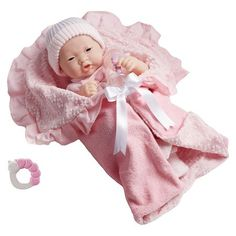 """JC Toys Asian La Newborn 15.5"""" Soft Body Boutique Baby Doll Deluxe Gift Set Designed by Berenguer - Pink : Target"""