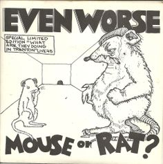 """EVEN WORSE Mouse Or Rat 7"""" 1982 w/insert KBD Thurston Moore Sonic Youth NYHC NM"""