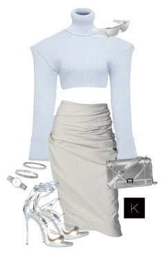 """Untitled #3990"" by kimberlythestylist ❤ liked on Polyvore featuring Jacquemus, Donna Karan, Dsquared2, Blue Nile, Cartier and Longines"