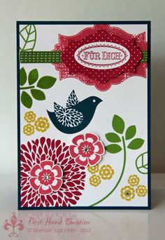 Stampin' UP! Betsy's Blossom in neuen In Colors by First Hand Emotion