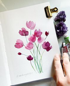 Sometimes it seems to me that my account looks like a splash of a rainbow. Probably because everything is absolutely monochrome… Watercolor Cards, Watercolor Flowers, Watercolor Wallpaper, Painting & Drawing, Watercolour Painting Easy, Splash Watercolor, Rainbow Painting, Gouache Painting, Hand Lettering