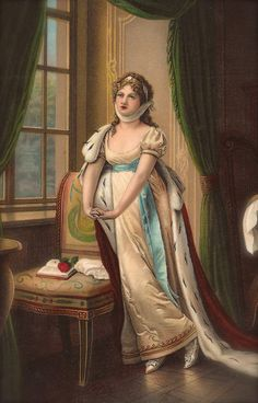 Queen Louise of Prussia (Louise of Mecklenburg-Strelitz) Napoleon Empire Fine Art Painting by Karl Lotzmann, Original 1900s German Postcard