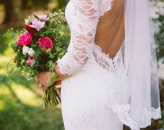 Schlüsselloch zurück Brautkleid, Brautkleid mit Ärmeln, Spitze Hochzeitskleid, französische Spitze Brautkleid