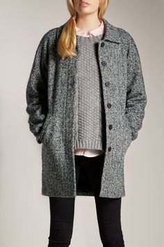 Hunting for Black/White Tweed Jacket {Jack Wills Eppleby Overcoat}