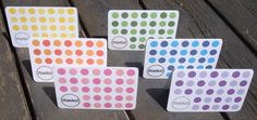 Polka Dot Note Cards - Choose Your Color. $18.00, via Etsy.