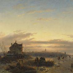 Winter op het IJ voor Amsterdam, Charles Leickert, 1850 - Rijksmuseum