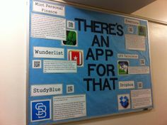 6 FREE apps that are perfect for college students: Mint (Finance), Wunderlist (to-do app), StudyBlue (flashcards), Evernote (note-taking), GPA Calculators (duh), and DropBox (file-sharing). All with QR codes for easy downloading.   Bulletin boards, Resident Advisor, Resident Assistant, ResLife, Residence Life