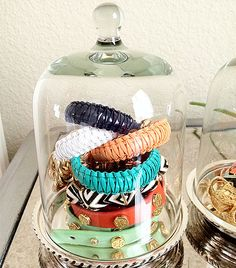 Cake keepers make an adorable jewelry holder