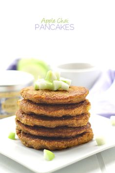 The taste of your favorite spicy tea in pancake form with the sweetness of apples! This pancake recipe just took breakfast to a whole new level!