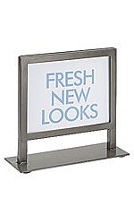 Raw Steel Boutique Countertop Sign Holder - for yogurt price display by cash register?