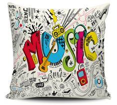 Almofada Music Multicolor