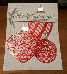 Red Ornaments To You & Yours by zipperc98 - Cards and Paper Crafts at Splitcoaststampers