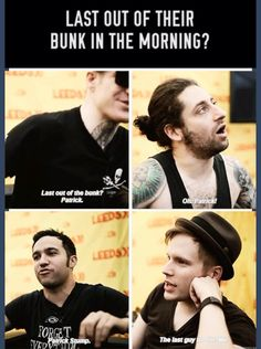 Lol although Patrick kinda doesn't count for mornings because apparently he doesn't get up until the afternoon lol