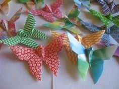 100 Origami Butterfly in multi pattern by OrigamiByWingy on Etsy, $25.00