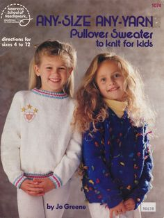 Vintage Pattern, Child Sweater Pattern, Kids Sweater, Sweater Pattern, Pullover Sweater by TheArtsyFarm on Etsy