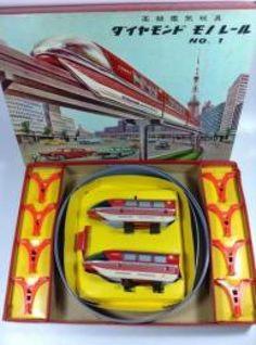 Monorail Train Railway Yonezawa 1960s Electric Vintage Tin Toy Rare JAPAN 726 #Yonezawa