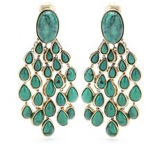 Aurélie Bidermann Cherokee Clip-On Chandelier Drop Earrings ($931) ❤ liked on Polyvore