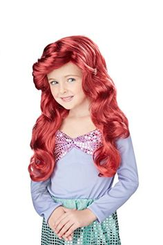 [HALLOWEEN] Little Mermaid Wig (Red) Child Accessory -  with FREE SHIPING WORLDWIDE! 2 DAYS for ALL USA DELIVERY!!! visit our site ->>> http://HALLOWEEN-CLOTHES.CF