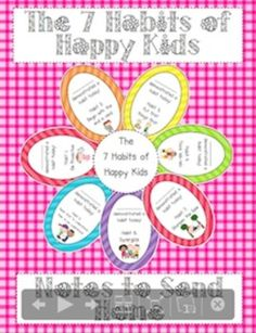 7 habits: Positive communication with parents - FREE on my TPT site (little lovely leaders)