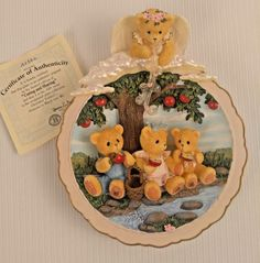 4 Cherished Teddies Someone to Watch Over Me Wall Plaques Collector Plates Angel | eBay