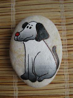 malovaný kámen - opice