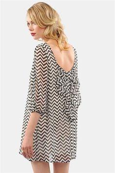 Waldorf Bow Dress - Black/White