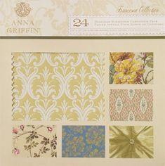 Anna Griffin 24 Designer Scrapbook Cardstock Pack (Francesca Collection)