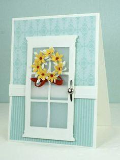 handmade cards   Flower Wreath on Door