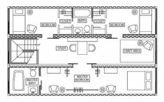 Shipping container home interior design.