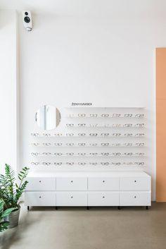 Eyewear Shop, Showroom Interior Design, Optometry, Bratislava, Store Design, Feng Shui, Clinic, Architecture Design, Photo Wall
