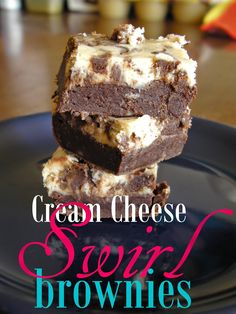 Diary of an Amateur Cook: Cream Cheese Swirl Brownies