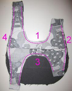 3 sew together bag and liner tuto japanese bag – … … - Womens Bags Sew Together Bag, Sewing Online, Japanese Knot Bag, Diy Sac, Diy Bags Purses, Leather Apron, Fabric Bags, Grab Bags, Little Bag