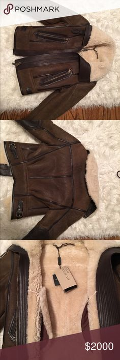 Burberry Brit sherpa bomber jacket size 2, new with tags, never worn, in AMAZING condition! Authentic, and perfect for the winter season. Open to offers. Burberry Jackets & Coats