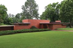 Rosenbaum House. 1940. Addition in 1948.  Usonian Style. Florence, Alabama. Frank Lloyd Wright