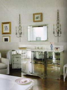 @Megan Denize, @Steven Miratana. What do you think about this mirrored furniture that's coming out at the moment?