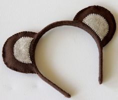 Teddy Bear Ear Headband - I want to do this for their next birthday instead of party hats!
